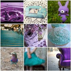 Turquoise and purple mosaic - colour inspiration