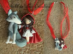 Little Red Riding Hood and Wolf Polymer Clay
