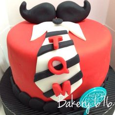 Mustache fathers day Hombres / niños Men / kids Pastel / cupcakes / cake Bakery 676