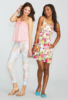 Love the outfit on the left!! So cute!
