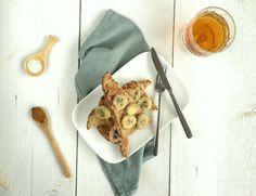 Gezonde wentelteefjes met banaan. Een heerlijk verwenontbijt voor het weekend.