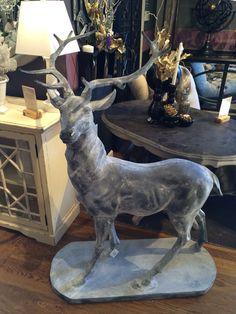 Deer statue at Arhaus Furniture. 2014.