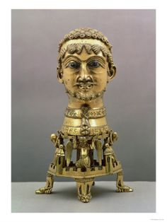 Reliquary Bust of Holy Roman Emperor Frederick I Barbarossa  Made in Aachen  Circa 1171  Gilded Bronze