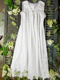 White cotton vintage looking nightgown..  April Cornell