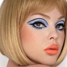 Mod Makeup, 1960s Makeup, Retro Makeup, Vintage Makeup, Cute Makeup, Glam Makeup, Makeup Looks, Hair Makeup, Doll Face Makeup