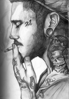 Smoking guy by bluelioness chicano art, cool sketches, tattoo sketches, hip Smoke Drawing, Lion Drawing, Guy Drawing, Drawing Tips, Cool Sketches, Tattoo Sketches, Drawing Sketches, Art Drawings, Portrait Au Crayon