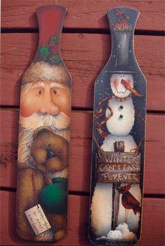 Country Primitives: Christmas/Winter Paddles - Maxine Thomas