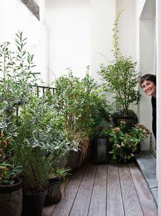 Isabelle Juy, architecte d'intérieur, nous dévoile sa terrasse parisienne fleurie avec des BACSAC