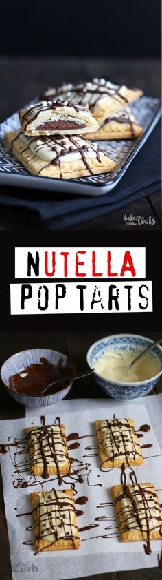 Delicious Little Nutella Pop Tarts Bake to roots - Backen Pop Tarts, Nutella Recipes, Cookie Recipes, Brownie Recipes, Cheesecake Recipes, Bread Recipes, Fall Desserts, Easter Desserts, Food Cakes
