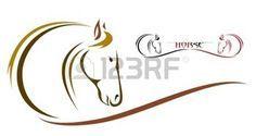 t�te de vecteur de cheval sur un fond blanc photo