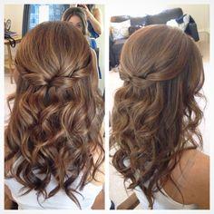 Half up half down hair, wedding hair ...