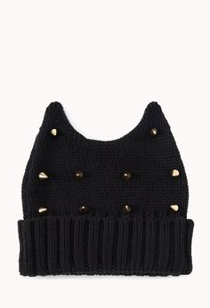 Spiked Horn-Shaped Beanie | FOREVER21 - 2040627540