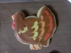 turkey sugar cookie using design I saw on bake at 350 website
