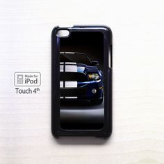 Blue and white mustang shelby car powerfull AR for apple case iPod 4/iPod 5