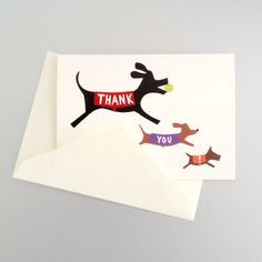 Doggie Thank You Note Cards