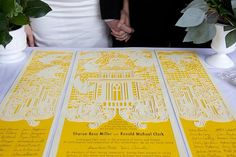 """House"" design cut paper wedding certificate (inspired by the Quaker tradition) by Damara Does Design"