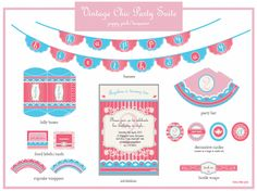 Little Sooti: {Vintage Chic} Party Printables