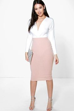 Hayley Soft Knit Midi Skirt