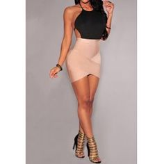 Wholesale Sexy Round Neck Short Sleeve Solid Color Asymmetrical Women's Dress Only $3.56 Drop Shipping   TrendsGal.com