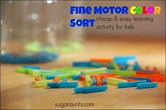 Color Sorting Fine Motor Activity for Kids
