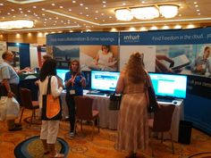 The Intuit booth at National Association, Event Marketing, Trade Show, Circuit, Conference, Collaboration, Clouds, Cloud
