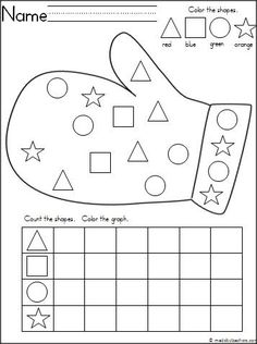 This is a mitten themed activity for your Kindergarten students to practice shapes and graphing.  It's a wonderful math activity for any winter month.  Download it for free. by shauna