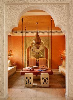 Qatar private villa Moroccan Room Living Moroccan by Katharine Pooley Morrocan Decor, Moroccan Room, Moroccan Interiors, Moroccan Lounge, Moroccan Lanterns, Moroccan Design, Moroccan Style, Design Marocain, Arabic Decor