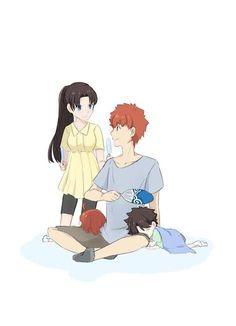 Anime Henti, Anime Comics, Kawaii Anime, Anime Art, Manado, Fate Stay Night Rin, Tohsaka Rin, Shirou Emiya, Miyamoto Musashi
