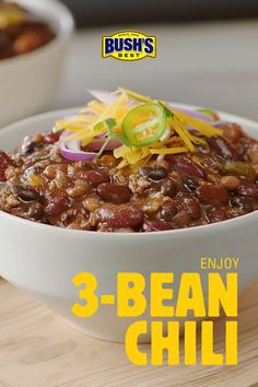 Make tonight a BUSH'S® Chili night. keto food list for ketogenic diet Chilli Recipes, Bean Recipes, Mexican Food Recipes, Soup Recipes, Vegetarian Recipes, Healthy Recipes, Bush's Chili Recipe, Diet Recipes, Vegetarian Chili