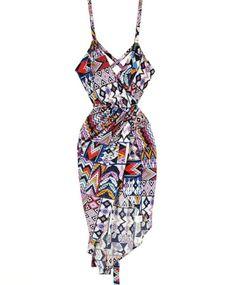 MARA HOFFMAN Huipil Blue Wrap Dress