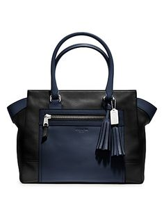 COACH Legacy Colorblock Leather Candace Medium Carryall | Bloomingdale's