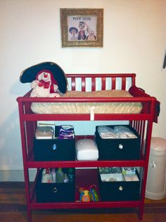 "Pirate themed nursery - The changing table (aka ""The Poop Deck"")"