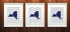 Ithaca College Set of Three Glicée Prints  8x10  Go by PaintedPost, $37.00
