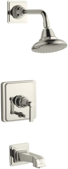 Pinstripe Rite-Temp Pressure-Balancing Bath and Shower Faucet Trim with Lever Handle, Valve Not Included