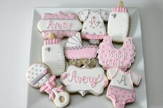 Pink and Grey baby shower | Cookie Connection