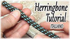 Tutorial tubolare Herringone - Spirale con perline - Come fare una spira...