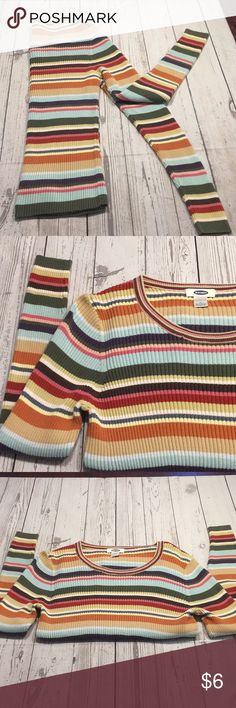 Fitted Sweater Cute Stripes, Cute Colors, Cute Sweater~  Fitted~   100% Cotton Old Navy Sweaters Crew & Scoop Necks