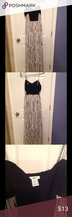 Bar III Maxi Dress Gently worn Bar III black and white maxi dress with straps Bar III Dresses Maxi