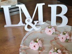 Letras decorativas para boda. Wedding decorative letters.