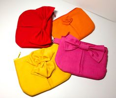 3  Bridesmaids Makeup Bags pouches with Zipper in by lynniebbridal, $57.00
