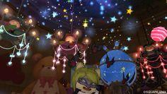 10/19 冒険者の便利ツールで副産物的に当てたものを飾り、もはやわけわかめな室内。プラネタリウムは交換に花火を半分ほど買ったけどね。大枚はたいたけど、星空が可愛い、きれい!満足。