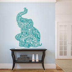 GECKOO Elephant Wall Stickers Yoga Vinyl Boho Wall Decal Home Bedding Decor Nursery Wall Mural(Medium,Teal) GECKOO http://www.amazon.com/dp/B016LZHY3S/ref=cm_sw_r_pi_dp_FVVRwb14H2X9T
