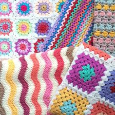 love these colorful crochet blankets from forever__autumn__ from 70+ Inspiring #Crochet Photos