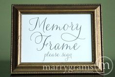 Elegant Guest Book Table | Guest Book Memory Frame Table Card Sign - Wedding Reception Seating ...
