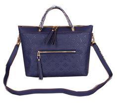 Louis Vuitton Monogram Empreinte Bastille MM Tote Bags M41168 Royal - $229.00