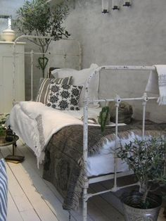 Guest Bedroom Whitewashed Cottage chippy shabby chic french country rustic swedish decor Idea.