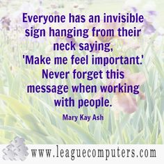 Mary Kay Ash Quote on Working with People