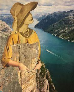 Norway series. Piece n8 #preikestolen #fjords #landscape #collage #collageart #collageartists #collage_art #collage_creatives #CollageArtwork #collageonpaper #illustration #art #dailycollage #gluepaperscissors #cutandpaste #collagedeldia #collageoftheday #collagecollective #C_Expo #collagecollectiveco #fabcollagemag #picame #collagear #pirategraphic #CollageStash #tacart