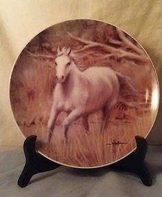 "Hautman Brothers Tone World 2001 8 1/4"" Collector's Plate Horses (Signed)"