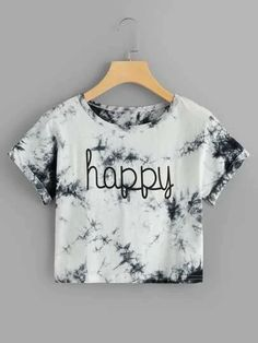 Varsity Striped Crop Tee T-Shirts, Buy Women's T-shirts at Cheap Prices… – Tanja Holtzmann Girls Fashion Clothes, Teen Fashion Outfits, Mode Outfits, Outfits For Teens, Trendy Outfits, Crop Top Outfits, Crop Top Shirts, Crop Tee, Cute T Shirts